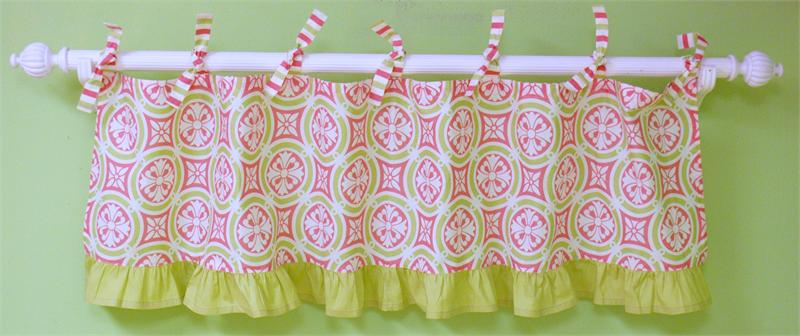 My Baby Sam MEDALLION in Pink Curtain Valance-my baby sam musical mobile sweet pea purple green trend lab baby bridal gift boutique custom baby boy girl infant nursery decor crib bedding set blanket new arrivals discount laundry hamper storage window valance diaper stacker rug lamp lampshade shade polka dot pink brown blue white stripes argyle paisley damask medallion barefoot dreamin' go car go mad about plaid in splash garden party trendy celebrity unique