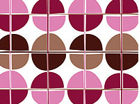 Dlx Gloss Pink & Chocolate Brown Dots Gift Wrap Wrapping Paper-