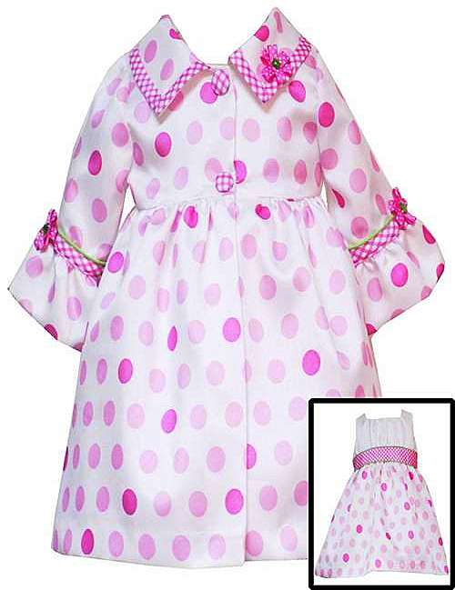 Rare Editions for Girls SHANTUNG 2 Piece Coat & Dress Set-rare editions for girls E225750 Coat 2-Piece trendy boutique pink green polka dot party dress bonnie jean baby silk shantung special occasion flower girl wedding birthday holiday easter taffeta satin crinoline full ruffled premium quality lime hot bubblegum light bright sage mint blue brown purple yellow black white brand new set outfit pageant interview suit child's clothes clothing