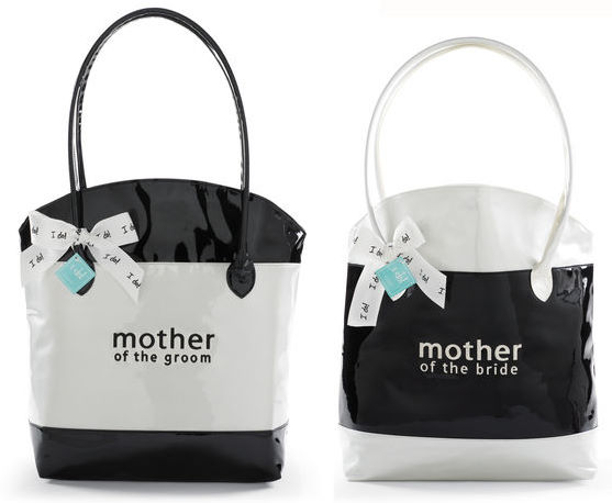 Mud Pie Embroidered Faux Patent Leather  MOTHER OF THE BRIDE/GROOM Tote Bag-Wedding, mud pie, bride, bridal, shower, gift, bridesmaid, personalized, embroidered, mud pie, tote bag, faux leather, leather, honeymoon, wedding gift, groom, mother of the bride, mother of the groom, flower girl