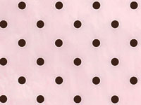 Bubblegum Pink & Chocolate Brown POLKA DOT Tissue Paper-wholesale,bulk,lot,wedding,commercial,tissue,paper,gift,wrap,wrapping,paper,pink,chocolate,brown