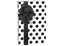 Black & White POLKA DOT Gift Wrapping Paper-polka dot gift wrap wrapping paper tissue wedding wholesale birthday black white hot pink chocolate brown blue green aqua olive orange purple sage yellow bridal bride unique trendy cute striped stripe holiday special occasion baby boy girl unique boutique gift bags favor party supply