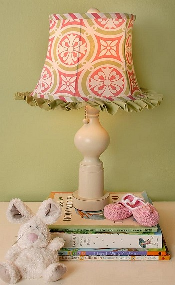 My Baby Sam MEDALLION in Pink Lamp Shade & Base-my baby sam musical mobile sweet pea purple green trend lab baby bridal gift boutique custom baby boy girl infant nursery decor crib bedding set blanket new arrivals discount laundry hamper storage window valance diaper stacker rug lamp lampshade shade polka dot pink brown blue white stripes argyle paisley damask medallion barefoot dreamin' go car go mad about plaid in splash garden party trendy celebrity unique