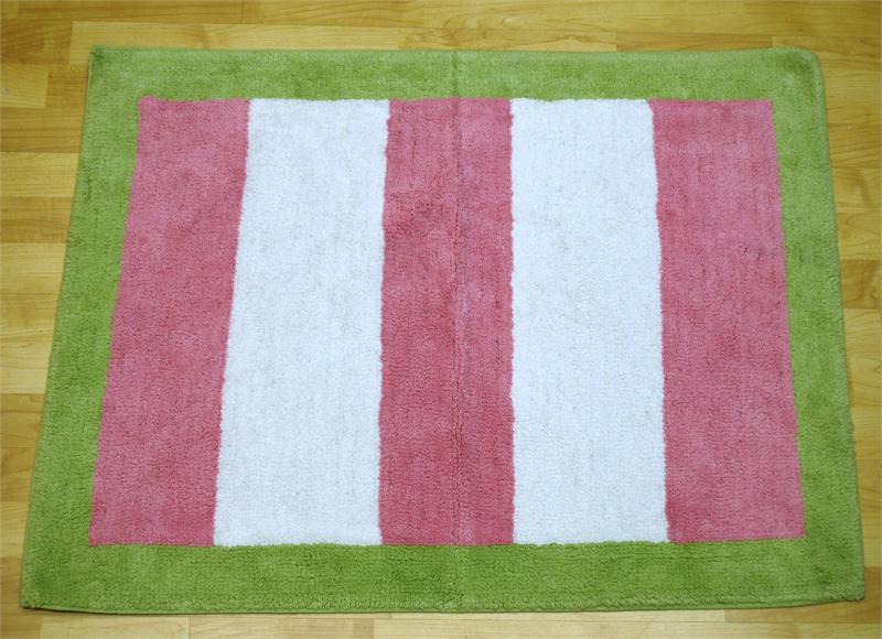 My Baby Sam PAISLEY SPLASH Pink and Green Rug-my baby sam musical mobile sweet pea purple green trend lab baby bridal gift boutique custom baby boy girl infant nursery decor crib bedding set blanket new arrivals discount laundry hamper storage window valance diaper stacker rug lamp lampshade shade polka dot pink brown blue white stripes argyle paisley damask medallion barefoot dreamin' go car go mad about plaid in splash garden party trendy celebrity unique