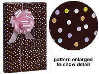 Deluxe Gloss Dots Gift Wrap Wrapping Paper - BIRTHDAY-gift, wrap, wrapping, paper, wholesale, bulk, commercial, wedding, birthday, chocolate, brown, bubblegum, pink, polka dots, polka, dots
