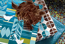 Aqua Blue Chocolate Brown Gift Wrap Wrapping Paper-premium,gift wrap,gift,wrap,wrapping,paper,gloss,commercial, wholesale, wedding, birthday, deluxe, gloss,