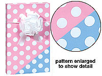 Reversible BLUE PINK POLKA DOT Gift Wrap Baby Wrapping Paper-Baby, gift, wrap, gift wrap, wrapping, paper, wrapping paper, commercial, quality, premium, deluxe, gloss, wholesale, bulk, lot, baby, boutique