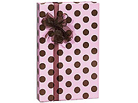 Premium Gloss Blush Pink & Chocolate Brown Polka Dot Gift Wrapping Paper-Gift, wrap, wrapping, paper, pink, chocolate, brown, polka, dot, dots, polka, wedding, shower, baby, bride